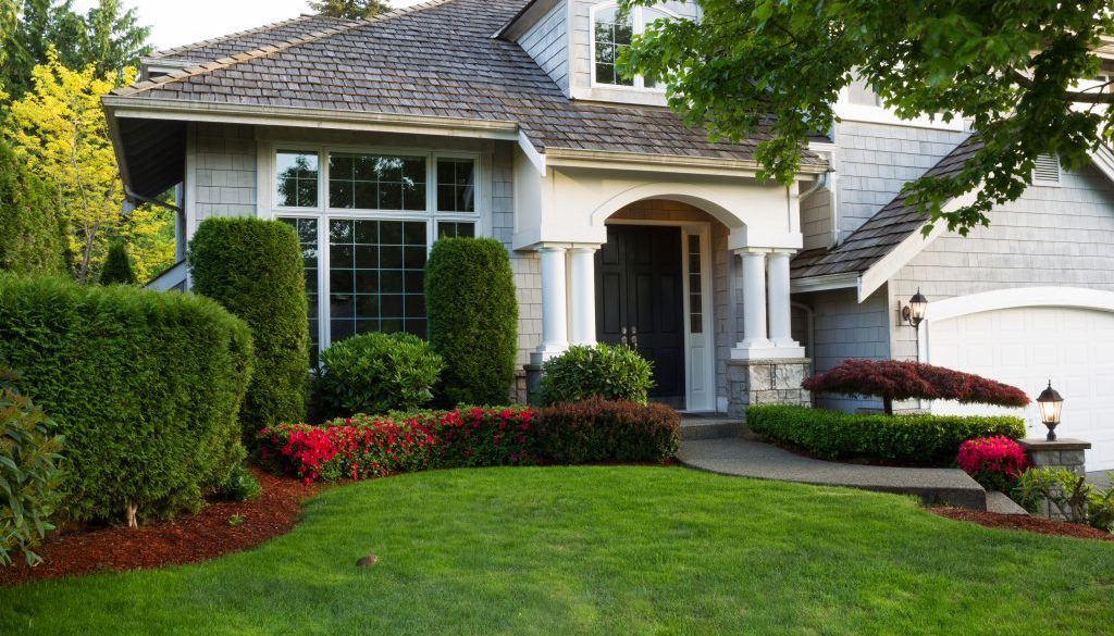 Clean exterior home during late spring season